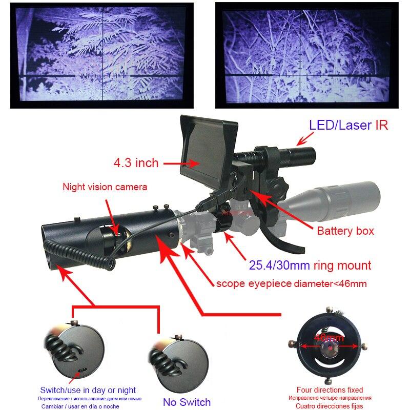 2018ホット販売アクセサリー屋外狩猟カメラナイトビジョンライフルスコープナイトビジョンライフルスコープ用戦術デジタル赤外線懐中電灯