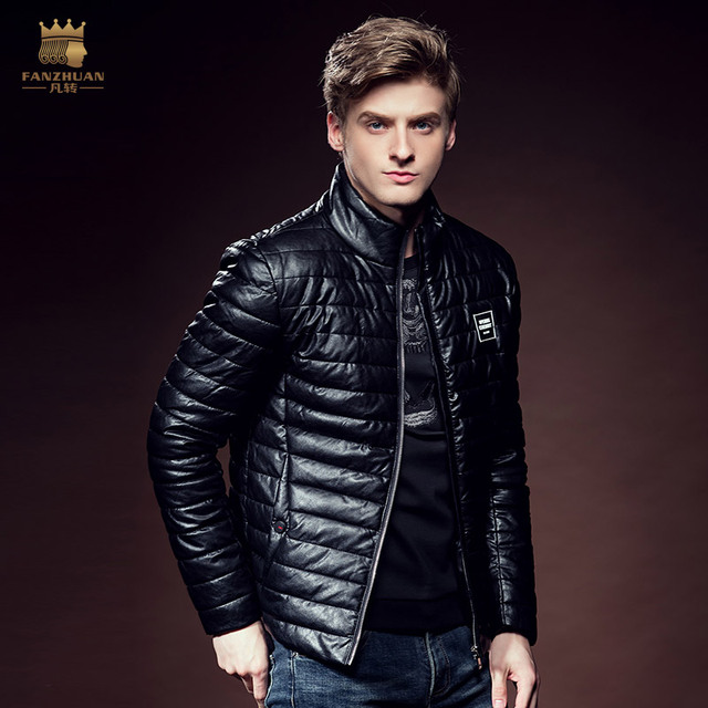 Free Ship fanzhuan fashion casual male Men's outerwear Leather Pure winter cotton padded jacket coat Thickening Thermal 610138