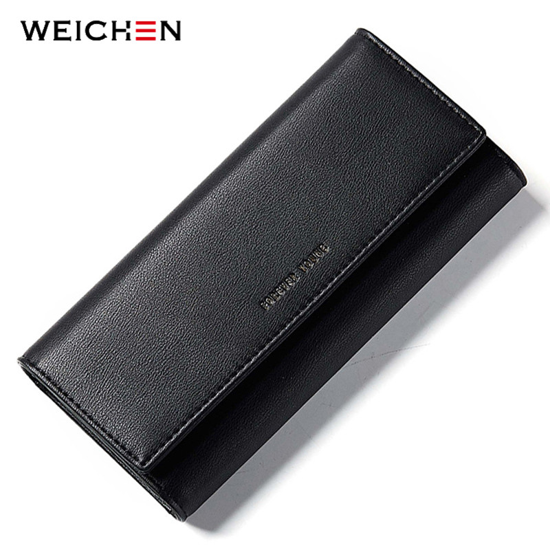 WEICHEN Clutch Wallets Women's Phone-Pocket-Card-Holder Lady Purse Female Large-Capacity
