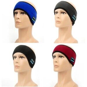 Image 5 - JINSERTA Auriculares deportivos, inalámbricos por Bluetooth, para correr, música, diadema, máscara para dormir, manos libres, altavoces y micrófono incorporados