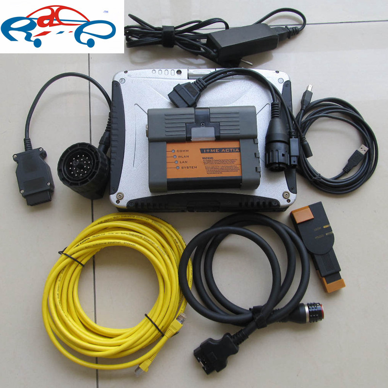For BMW Icom A2 B C with Software in Military Laptop CF-19 4GB Ram installed icom a2 for bmw software with expert mode V2017.03