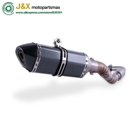 NMAX155 Motorcycle Exhaust muffler Slip On Full System contact pipe + exhaust For YAMAHA NMAX 155 NMAX 125 N MAX155