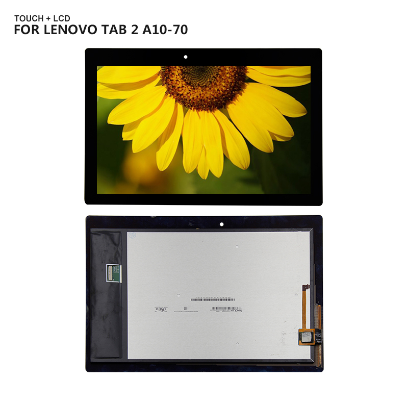 For Lenovo Tab 2 A10-70 2gen A10-70F A10-70L Display Panel LCD Combo Touch Screen Glass Sensor Replacement Parts цена