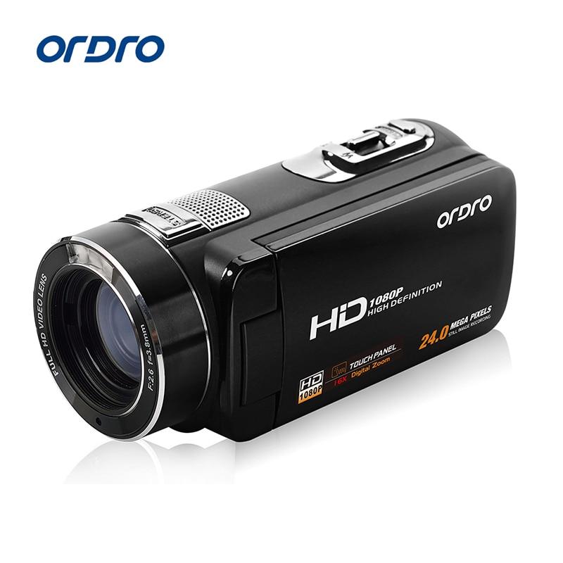 Ordro Camcorder HDV-Z8 Plus 1080P FHD Digital Video Camera 3.0 LCD Touch Screen with Remote Control USB Port HDMI Output фотокамеры и аксессуары ordro hdv v88 16mp 1080p w ordro hdv v88