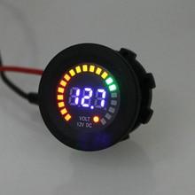 12 В светодиодный цифровой автомобильный Вольтметр для мотоцикла Универсальный Авто вольтметр светодиодный дисплей Вольтметр высокого качества