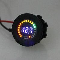 12 V LED Car Digital Motocicleta Voltímetro Soquete Universal Auto Voltímetro Display LED Volt Medidor de Tensão Calibre de Alta Qualidade