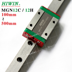 HIWIN MGN12 prowadnica liniowa 400mm 500mm 300m 200mm 150mm z MGN12H MGN12C blokujący przesuwanie się do 12mm miniaturowy zestaw cnc w Prowadnice liniowe od Majsterkowanie na