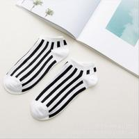 Men's hosiery socks short striped casual socks