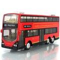 Mini Modelo de Autobús de Aleación de Autobús de Juguete a Escala 1:43 Tire Hacia Atrás con Intermitente Puede Abrir La Puerta para Los Niños