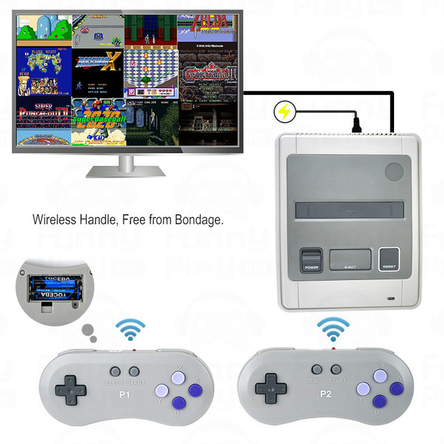 Super Retro Wireless Controller HD NTSC/PAL 720P 2 in 1 Console System (2018) - for NES, SNES Original Game Cartridges 4