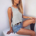 Sexy Women Knitted Tank Tops 2016 Summer Style Casual O Neck Sleeveless Knitwear Solid Color Loose Gray Army Green Camis Top