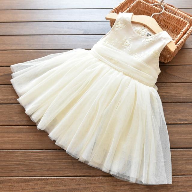 Vestito Da estate della neonata Per Battesimo Compleanno Outfit Bambini Da  Sposa Vestiti Da partito Della 041b53618b2