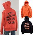 ANTI SOCIAL CLUBE SOCIAL Com Capuz Mulheres Homens 1:1 Alta Qualidade Paranóico Invicto Oeste Hoodies ASSC Moletom