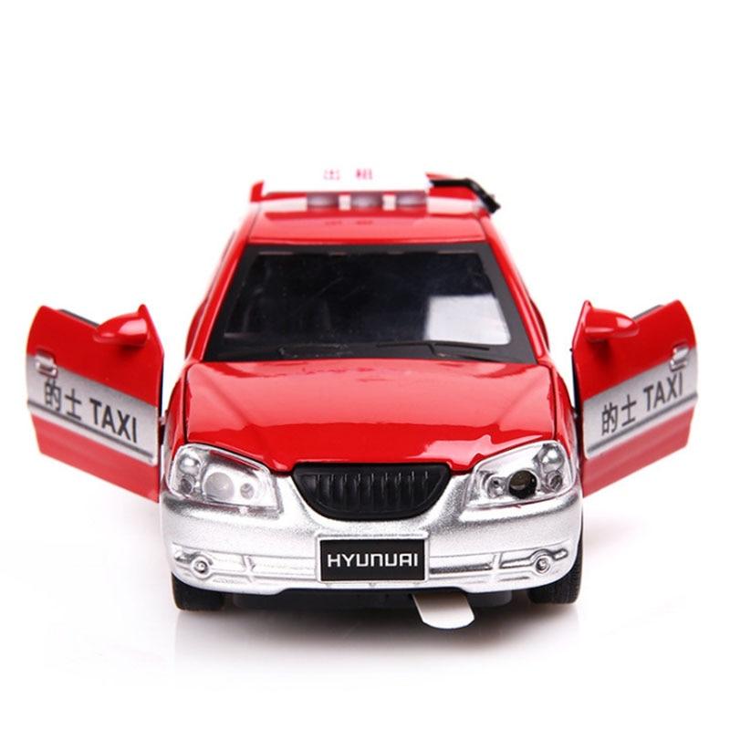Modelo de 1/32 escala 25023 TAXI Diecast Metal modelo de coche de juguete para la colección de regalos de bebé caja Original luz 1/32 escala modelo de fundición GAZ Tigre 15Cm réplica en metal coche niños de juguetes con caja de regalo/caja de sonido/luz/Atrás función