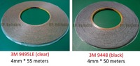 2x 4mm Width 3M Double Sided Adhesive Tape 9448B 9595LE 300LSE For Iphone Samsung HTC Noka