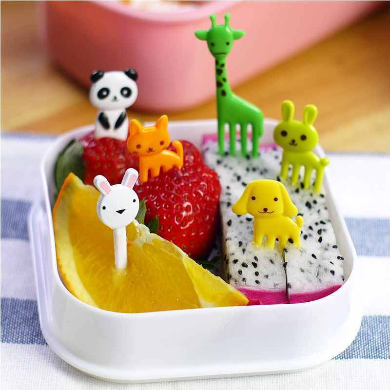 10x Animal Flower Party Food Picks Dessert Fruit font b Salad b font Cake Kitchen Gadget