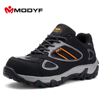 Modyf Men Steel Toe Safety Work Shoes Casual Breathable Outdoor Boots Puncture Proof Protection Footwear