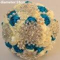 Elegante Personalizada Rosas De Seda Ramo de Perlas Impresionante Broche De Perlas De Cristal de Novia de La Boda Romántica de La Boda Ramos de Novia W230