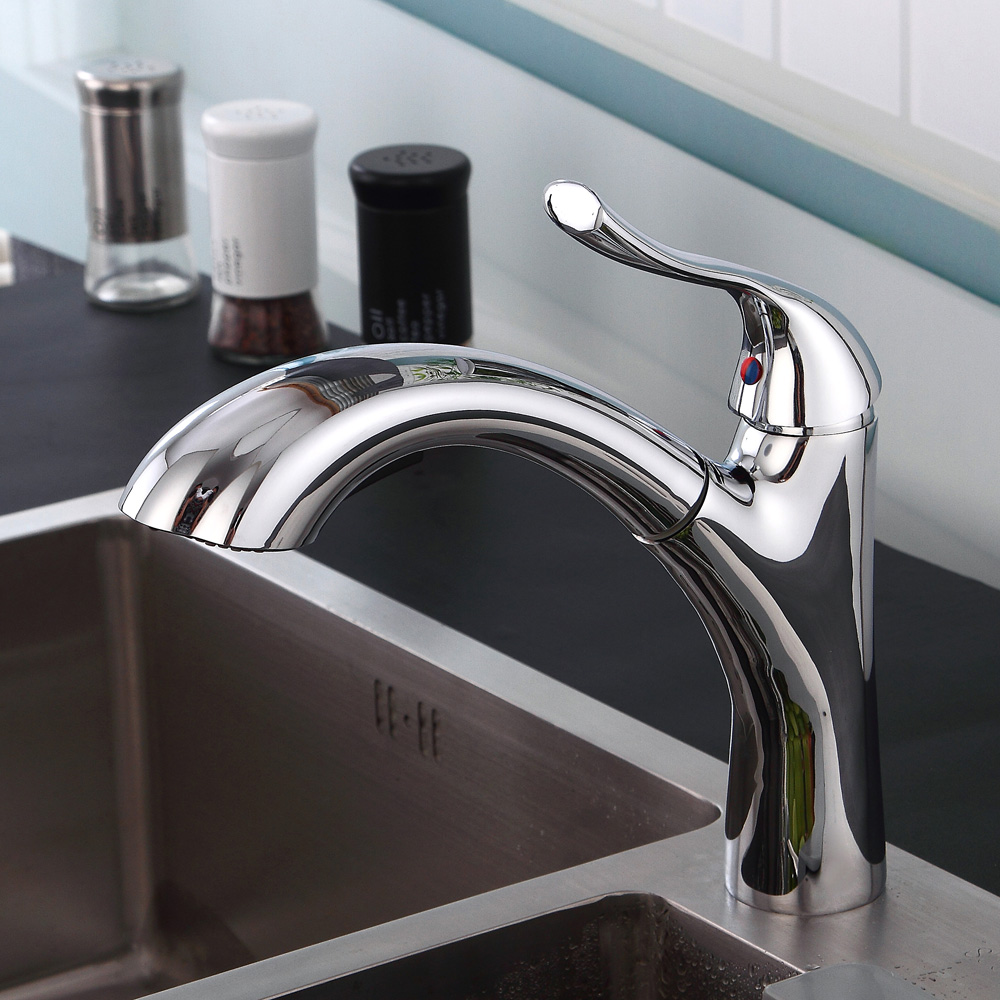 BAKALA Hot Sale New Pull Out Spring Kitchen Faucet Brass Vessel Sink Mixer Tap Sprayer Swivel Spout Mixer Tap S-174 new hot sale pull out spout kitchen faucet white painting kitchen vessel sink mixer tap sprayer swivel spout water taps