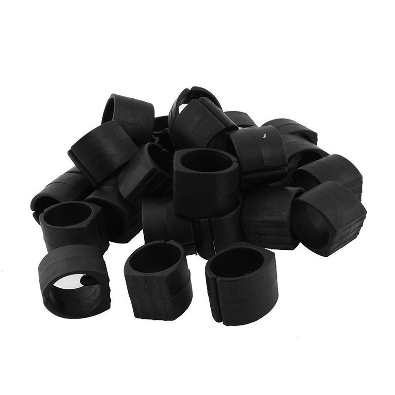 30x Plastic Home Furniture Chair Pipe Foot Clamp Pads U Shape Caps Black Durable Service