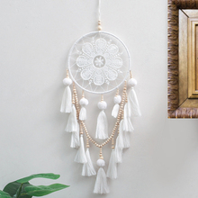 Wind Chimes  Handmade Dream Catcher Wall Hanging Home Decor Craft Gift for Wedding Party White Dreamcatcher