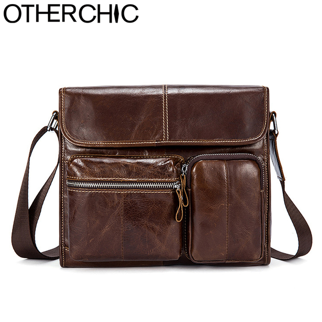 92eb441de3 OTHERCHIC Genuine Leather Men Bags Fashion Brand Designer Handbags Shoulder Vintage  Cow Crossbody Bag Men Messenger Bags 7N04-22