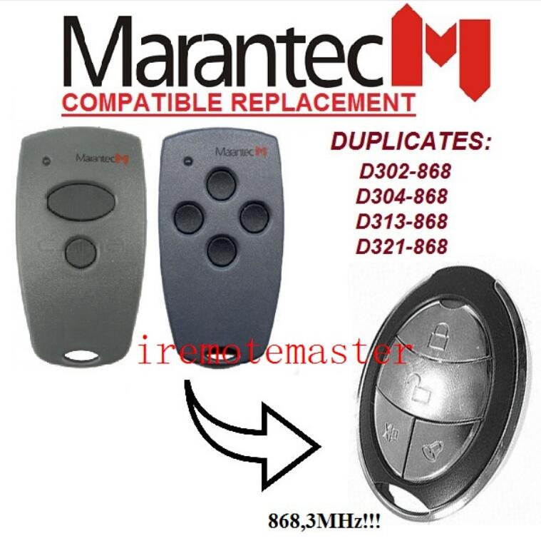 Back To Search Resultsconsumer Electronics Marantec D302,d304 868mhz Replacement Remote Control Very Good Non-Ironing Home Electronic Accessories