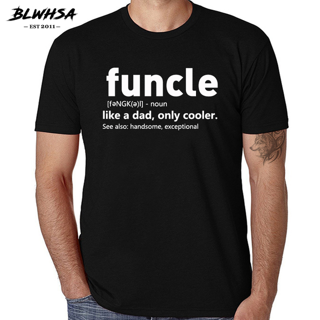 3c26705a8 BLWHSA Mens Funcle Definition T-shirt Funny Gift for Uncle Proud A Uncle  Tees Like A Dad Only Cooler Tshirt for Men 100% Cotton