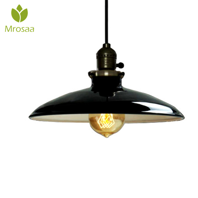 Mrosaa Pendant Lights E27 AC110-240V Vintage Industrial Ceiling Hanging Light Loft Corridor Living Room Chandelier Pendant Lamps nordic vintage chandelier lamp pendant lamps e27 e26 edison creative loft art decorative chandelier light chandeliers ceiling
