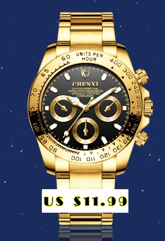 CHENXI Brand Top Luxury Ladies Gold Watch Women Golden Clock Female Women Dress Rhinestone Quartz Waterproof Watches Feminine 5