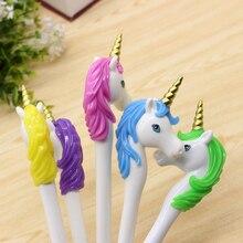 1 Pcs Novel Unicorn Ballpoint Pen Blue Refill Pen for Writing 1.0mm Kawaii Stationery Caneta Office School Supplies Sale Items