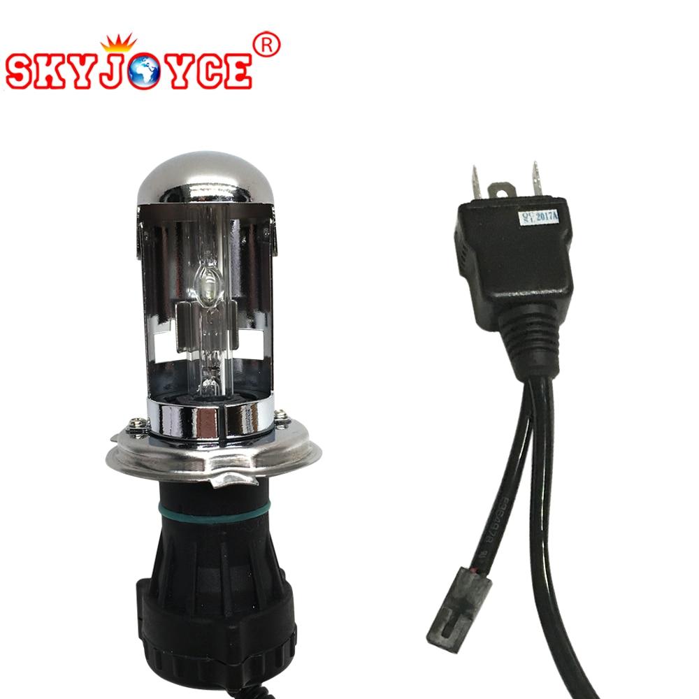 SKYJOYCE AC 35W 55W H4 Bixenon Hid Lamp Bulb Replace 3000K-8000K H4 Far Near BIxenon H4 Controller Cable Relay Harness Socket