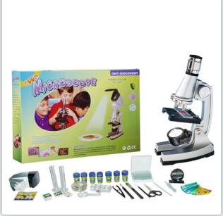 ФОТО New Hot Sale High Quality STX1200  for Children Toy Microscope with all Accessorries  as Best Gifts