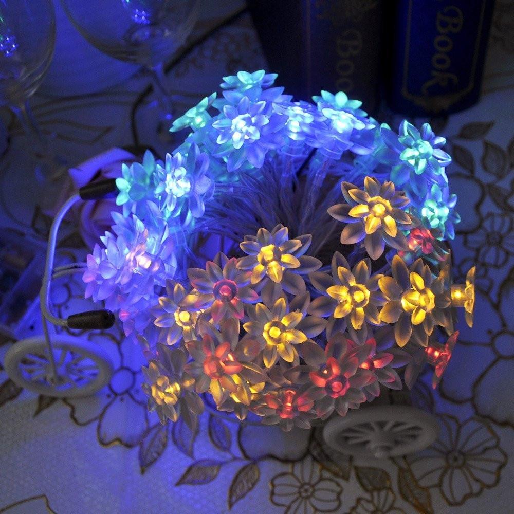 Rad s baterijama 6M 20FT Lotus cvijet LED svjetla s 5 načina rada, - Rasvjeta za odmor - Foto 3