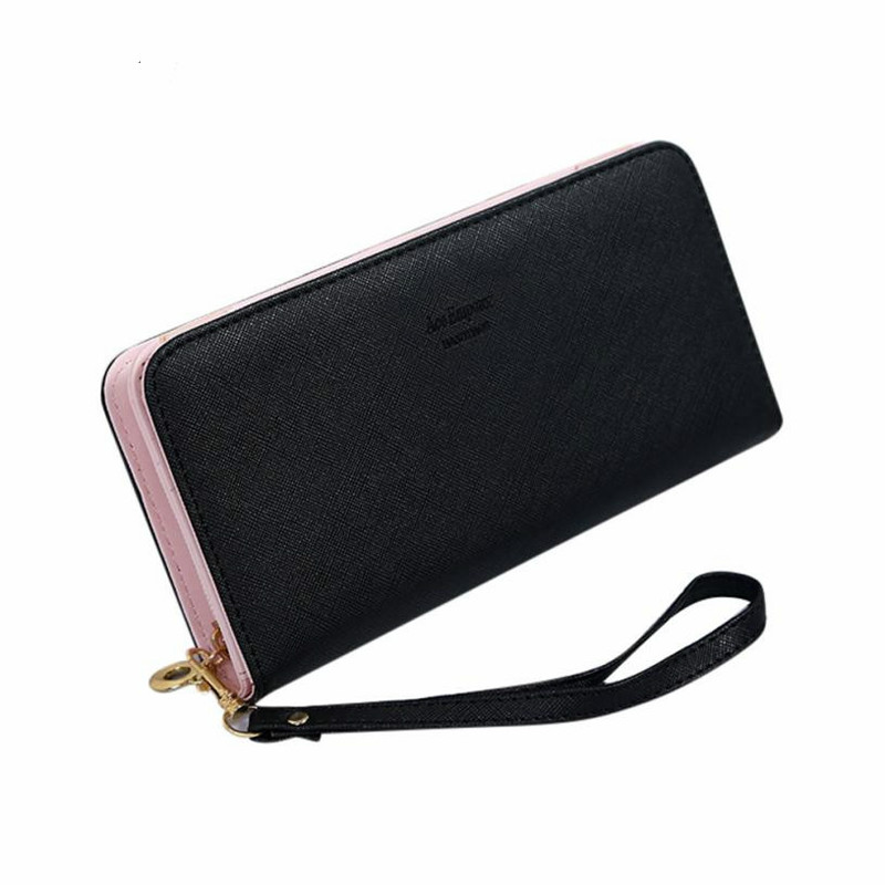 New Women Clutch Long Purse Wallet Card Holder Handbag Casual Day Clutch Card Holder Phone Pocket Wallet Female Purse carteras kenneth cole new york womens leather clutch wallet w iphone smart phone pocket