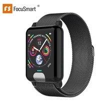 FocusSmart E04 умные часы ECG PPG кровяное давление фитнес-трекер Gps Smartwatch браслет монитор сердечного ритма трекер активности