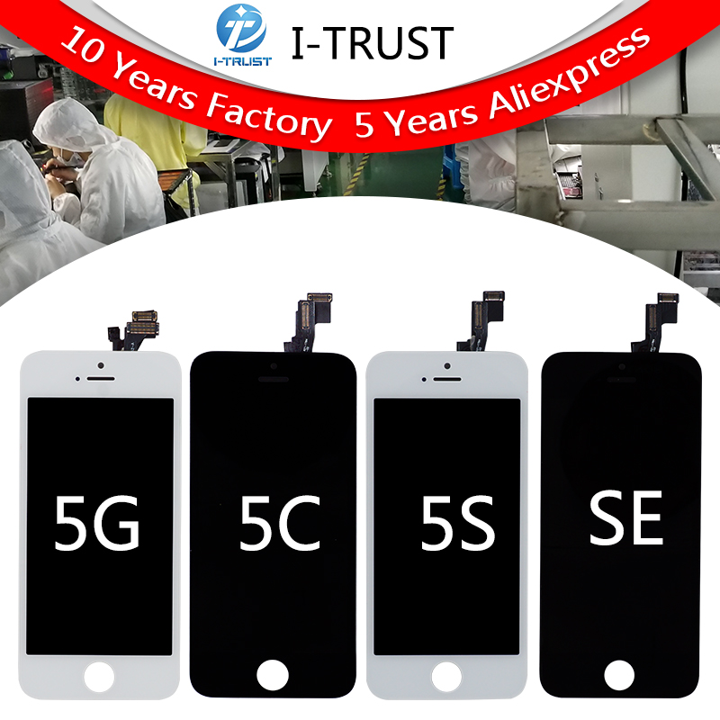 LCD Display For iPhone 5G 5S 5C SE  Free DHL iphone 5s screen Ship with touch screen Full set Assembly 10pcs/a lot-in Mobile Phone LCD Screens from Cellphones & Telecommunications    1
