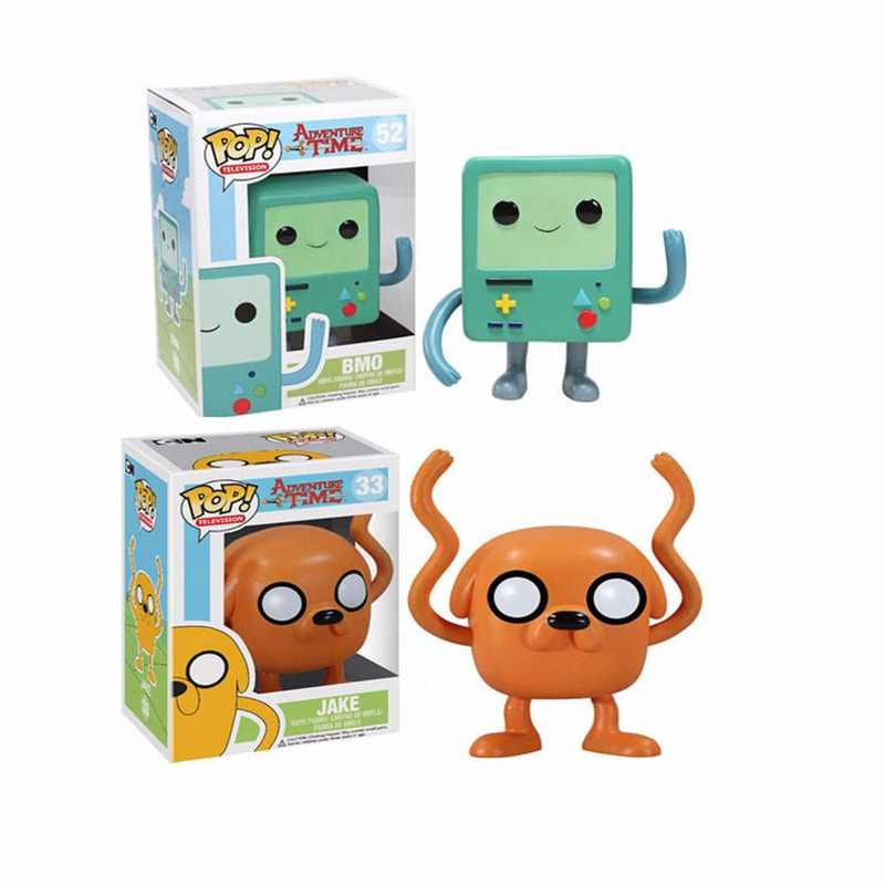 FUNKO POP Adventure time-BMO & JAKE PVC Action Figure Collectible Modelo Brinquedos para presente Dos Miúdos