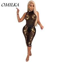 Осеннее женское облегающее платье водолазка omilka 2018 без