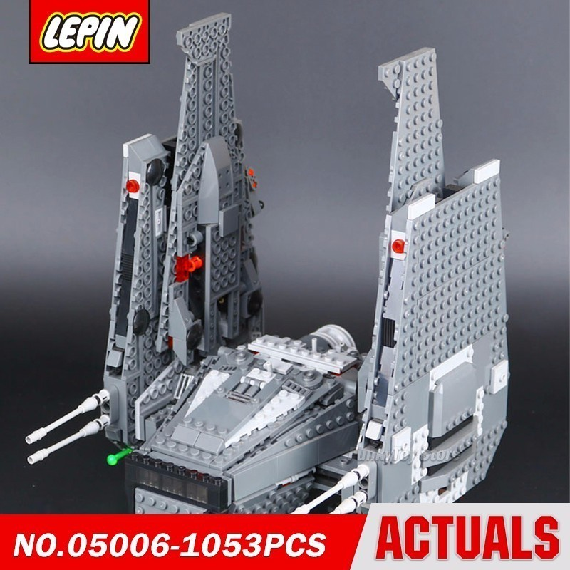 Lepin 05006 Kylo Ren Command Shuttle 75104 Star Series Wars Model Building Block Brick Kits Compatible Toys lepin 05006 star kylo ren command shuttle lepin building blocks educational toys compatible with 75104 lovely funny toys wars