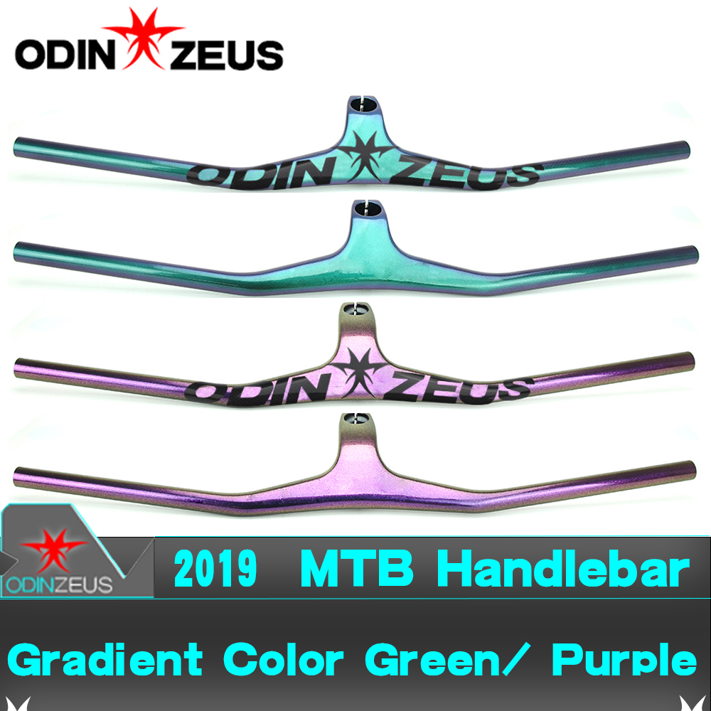 ODINZEUS 2019 Full Carbon Fiber Gradient color Mountain Bicycle BMX MTB Riser One shaped Integrated Champion