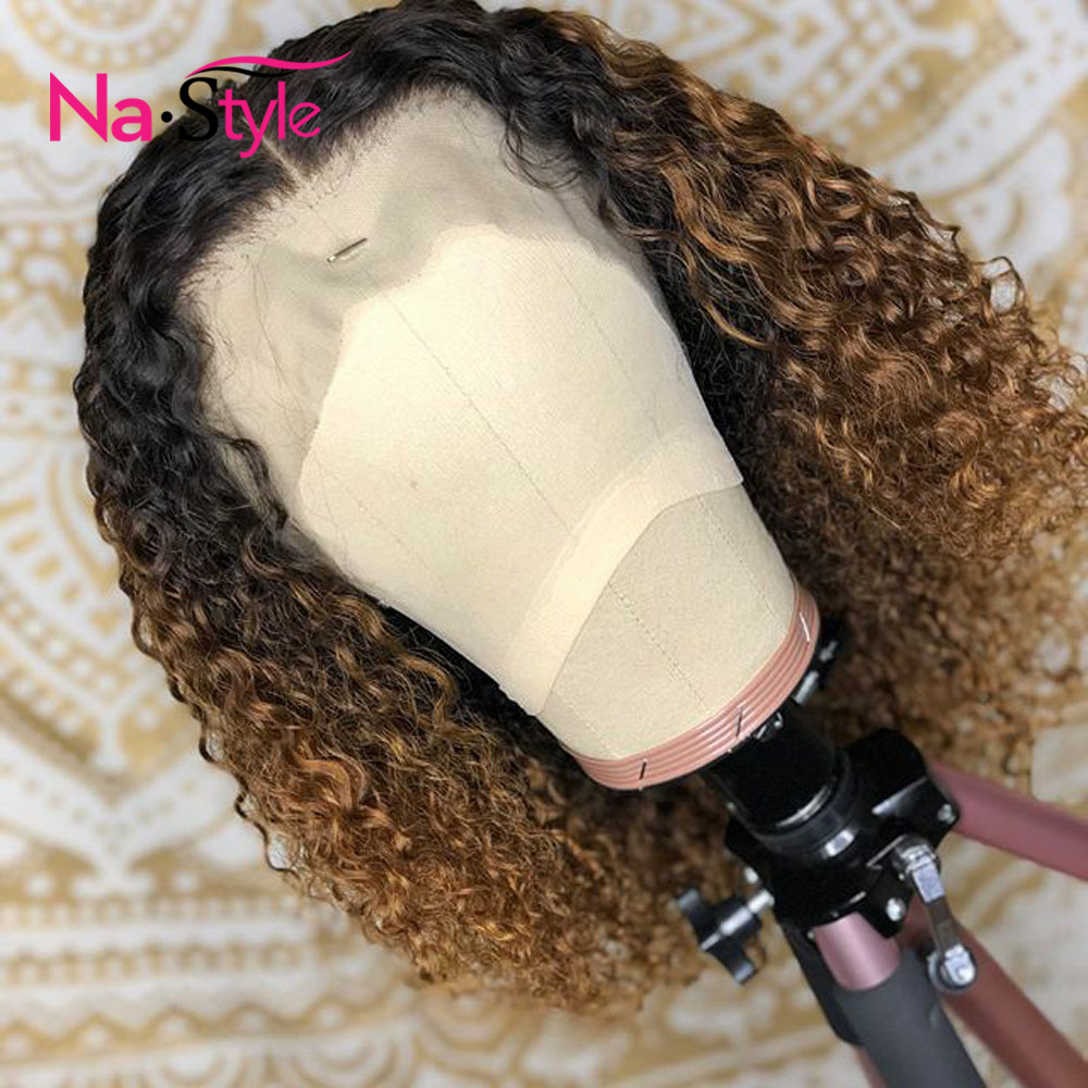 1b 27 Honey Blonde Lace Front Wigs Ombre Human Hair Wig