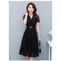 Vestidos Lace Dress Elegant Pink Women Short Slim Prom Office Party Dresses Summer 2019 Casual Dress Out going Spring PP 398