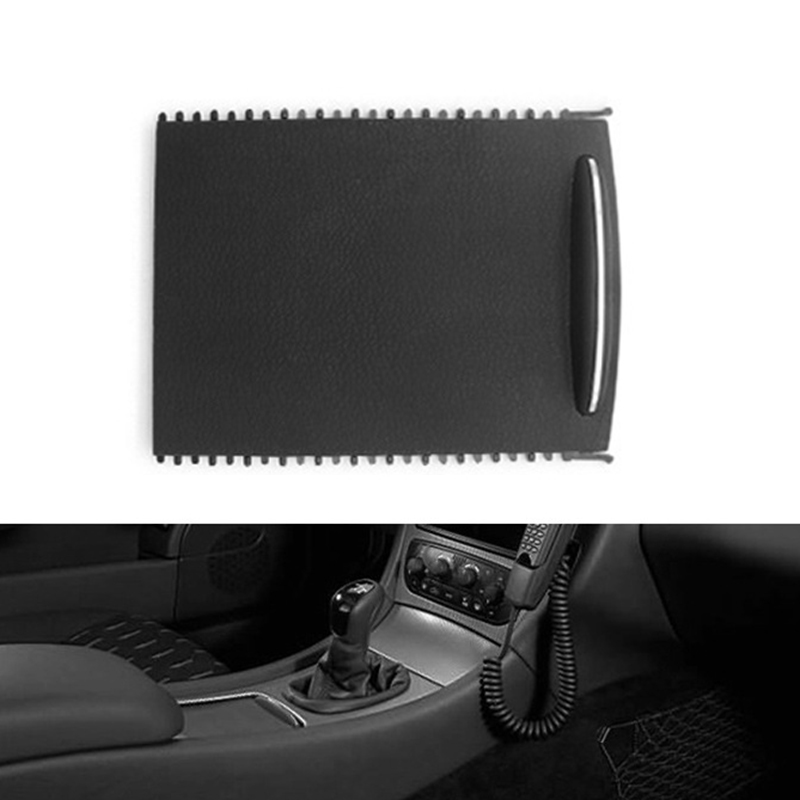 1pc Black Car Center Cup Holder Roller Blind <font><b>140</b></font>*115*25mm Cup Holder Console Cover Slide Tray Parts For <font><b>Mercedes</b></font> W203 image