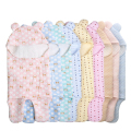 Cartoon baby blankets newborn baby swaddle cotton blankets autumn and winter air layer baby sleeping bags cotton cute