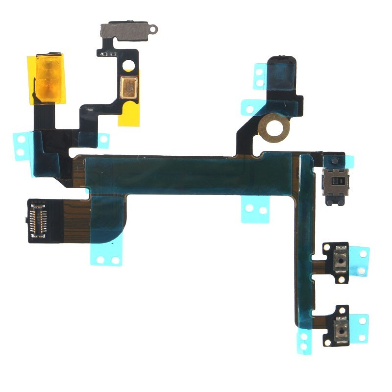 100% New Repair Parts For iPhone SE Volume Button Key ON Off Mute Silent Switch Connector Flex Cable With Mic Flashlight