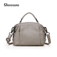 Sharasuna 2018 New Fashoin Women Handbags Genuine Leather Shoulder Bags Famous Designer Brand Satchels High Quality Ladies Tote