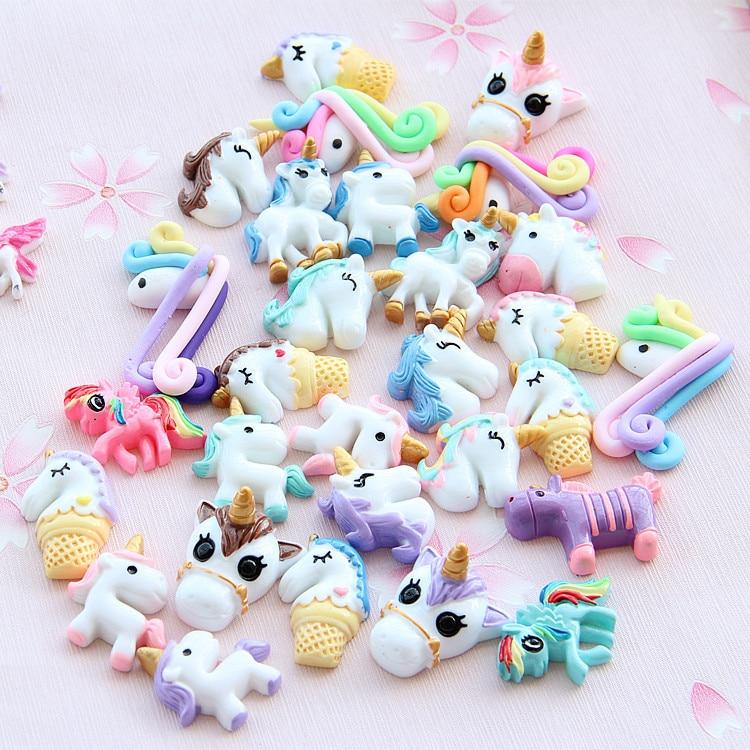 Cute Unicorn Slime Set DIY Resin Accessories Slime Filler Toys for Kids 30pcs/lot ...