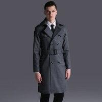 S 6XL! 2018 Big yards men's windbreak Loose woollen cloth coat man's sleeve of autumn/winter of autumn and winter