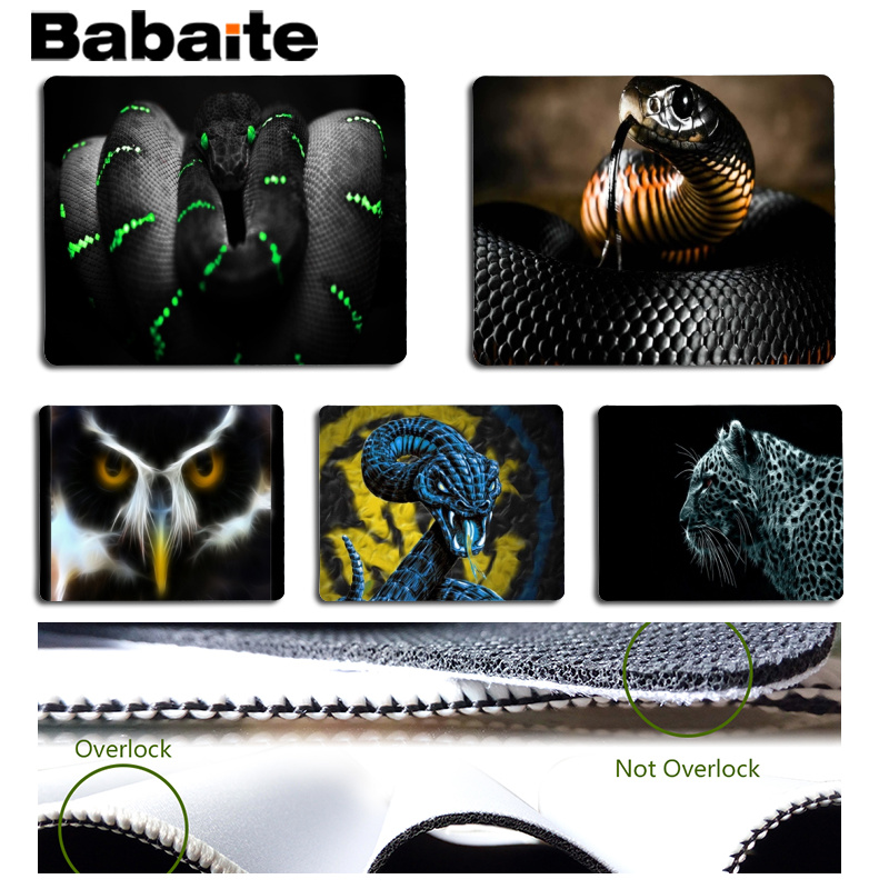 Babaite New Designs Dangerous Computer Gaming Mousemats Size for 180x220x2mm and 250x290x2mm Small Mousepad